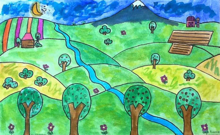 Image results for landscape drawing by kids