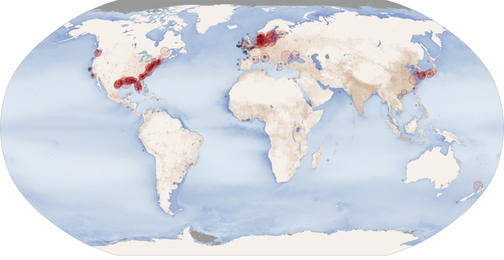 coastal dead zones nasa