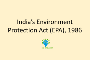 Environment Protection Act, 1986
