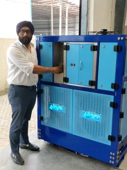 Mr Bagga with Akvo Machine