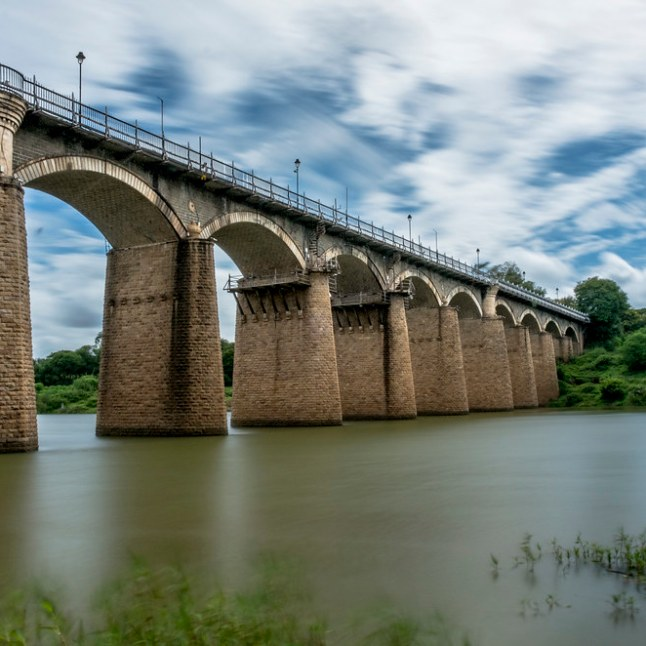 Irwin Bridge on Krishna River in Sangli before the flood