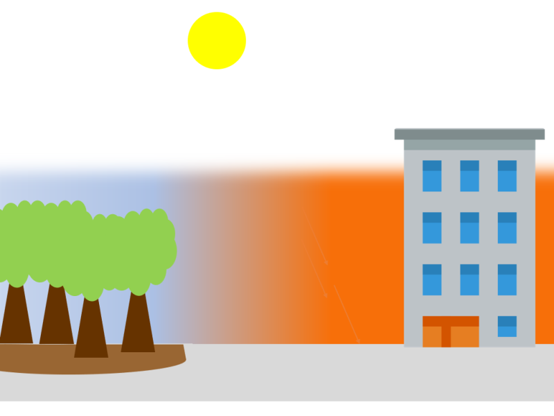 cooling effect of trees in cities