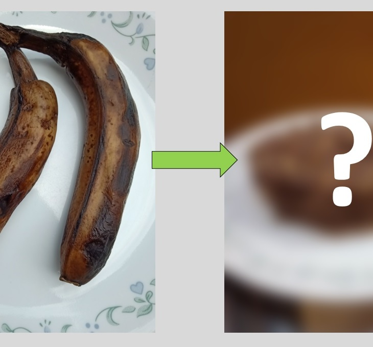 What can overripe bananas be used for?