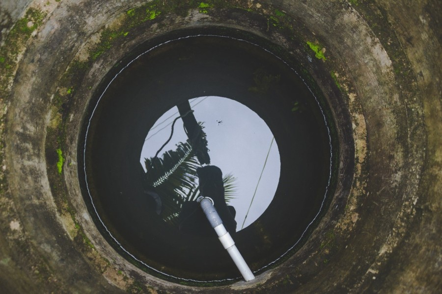 Contaminated water in a well