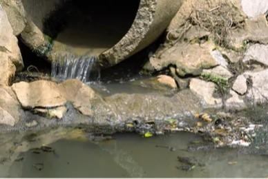 sewer leak