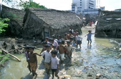 slums flooded
